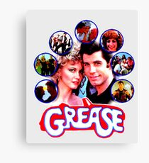GREASE - COLLAGE #3 Canvas Print