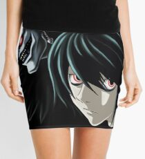 Ryuk and L from the Anime/Manga TV show Death Note: Original Digital Painting Mini Skirt
