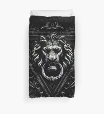 Gothic Lion Black Duvet Cover