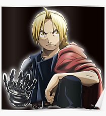 Fullmetal Awesomeness Ver.2: Original Digital Painting of Edward Elric from The Popular Anime/Manga Fullmetal Alchemist Poster