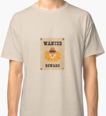 Wanted Wildwest lion poster Rinxg Classic T-Shirt