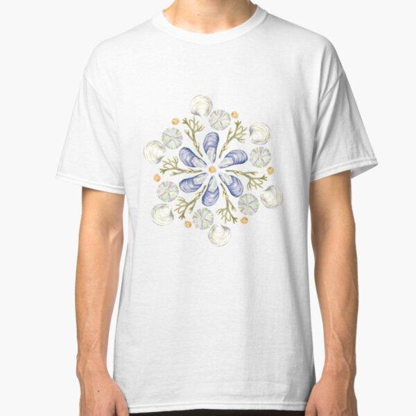 Tide Pool Beach Mandala 2 - Plum - Watercolor Classic T-Shirt