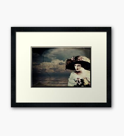 Lady by the Sea Framed Print
