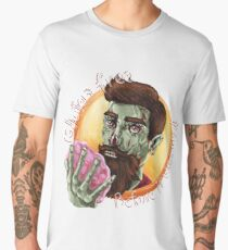"Zombie Hipster - ""Gluten-Free Before it Was Cool"": original hand-drawn illustration Men's Premium T-Shirt"