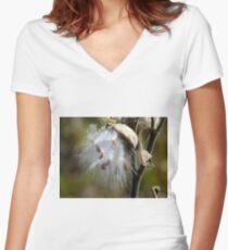 Common Milkweed Women's Fitted V-Neck T-Shirt