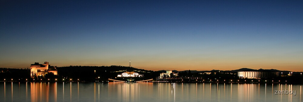 Lake Burley Griffin Reflections by zenboy