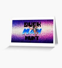 Duckman Hunt 8 Bit Retro Greeting Card