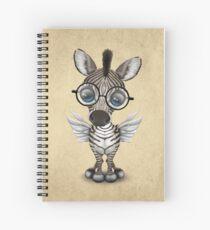 Nette Nerdy Winged Zebra-tragende Gläser Spiralblock