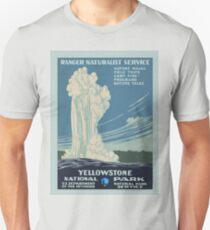 YELLOWSTONE National Park Service Poster WPA T-Shirt