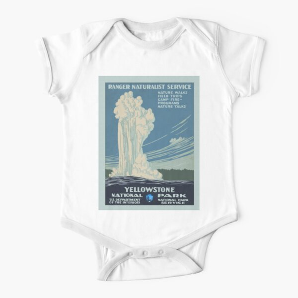 Yellowstone National Park Cotton Infant Girl T-Shirt Short Sleeve