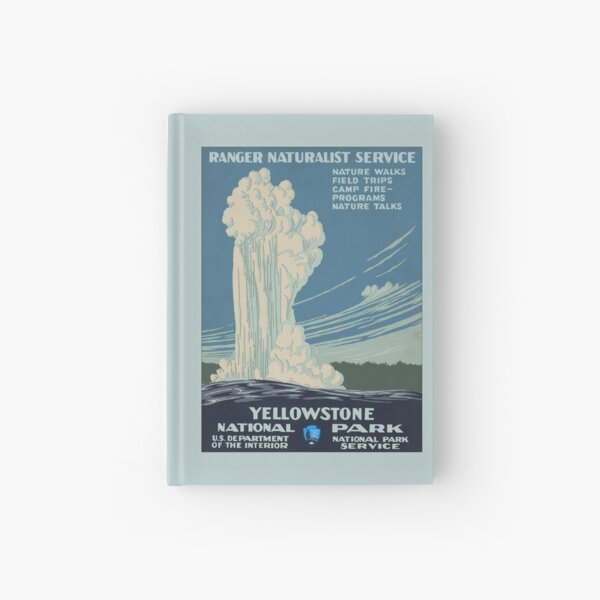 YELLOWSTONE National Park Service Poster WPA Hardcover Journal