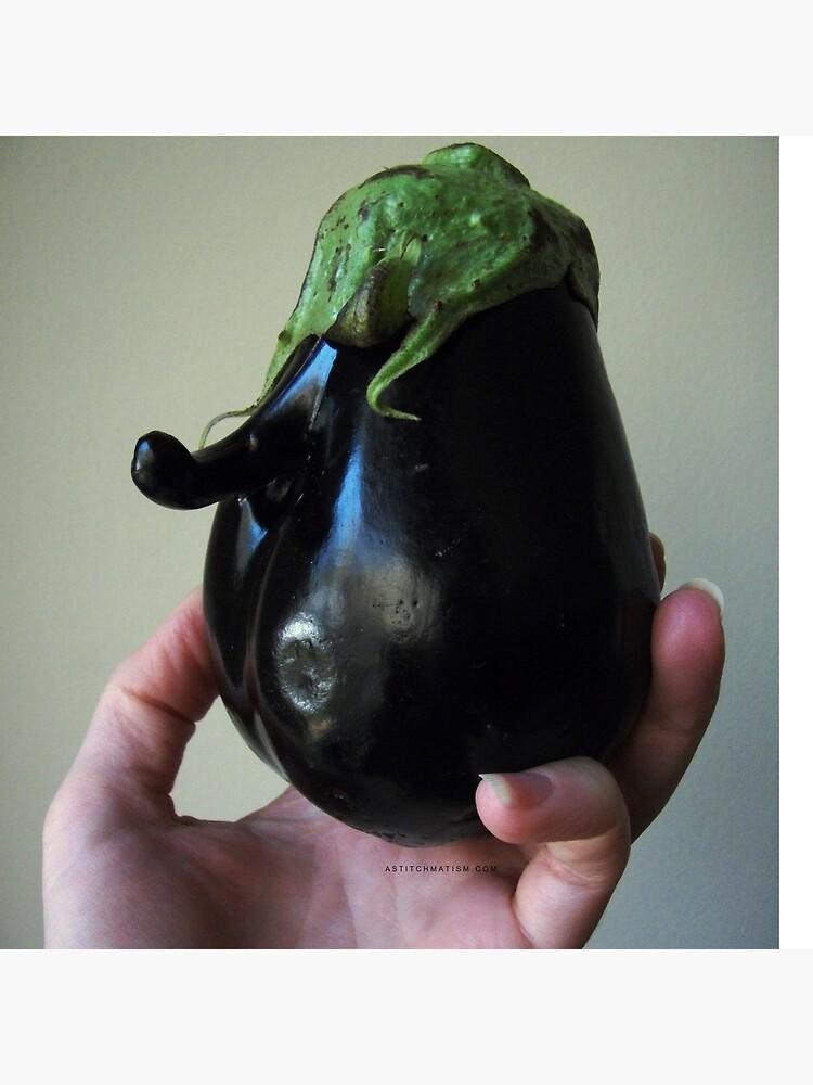 Of Veggie Weenies - Eggplant by astitchmatism