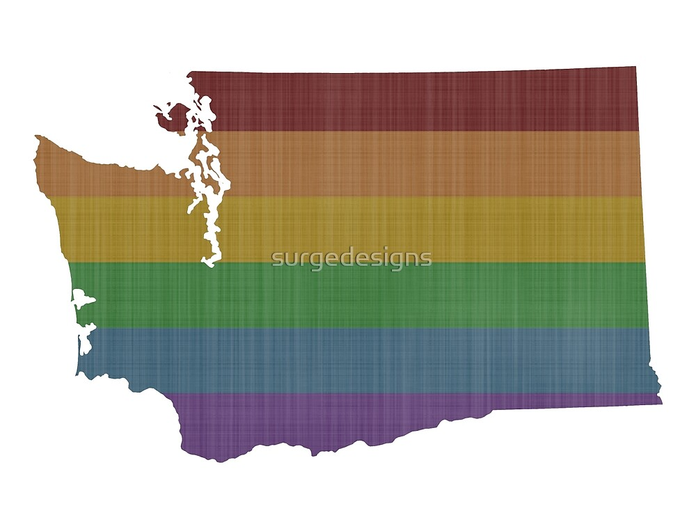 Washington Rainbow Gay Pride by surgedesigns