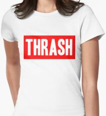 Thrash red Women's Fitted T-Shirt
