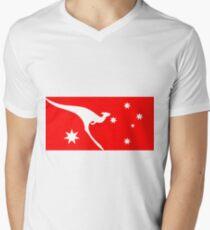 Ensign of Qantas Kangaroo Men's V-Neck T-Shirt