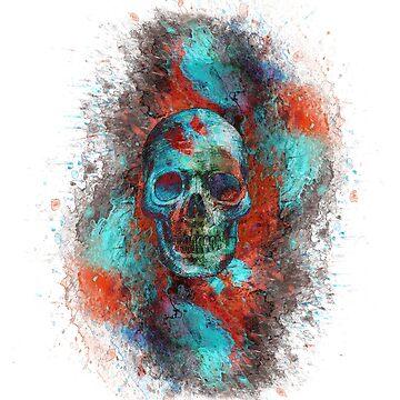 Skull in Color by SnowblindDesign