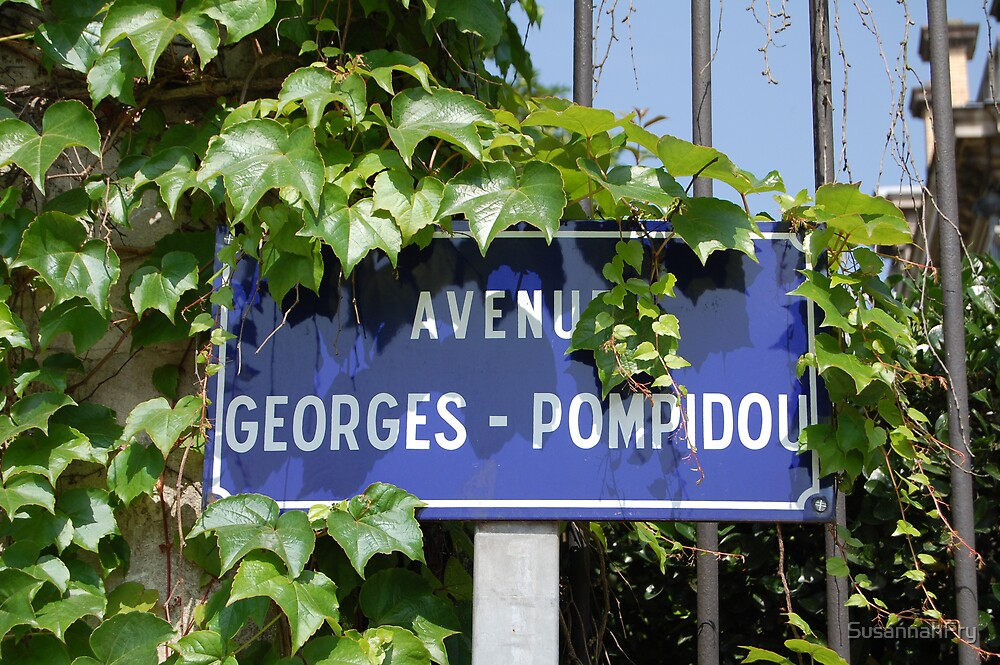 Street Sign: Avenue Georges Pompidou by SusannahFry