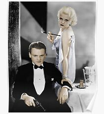 James Cagney and Jean Harlow Poster