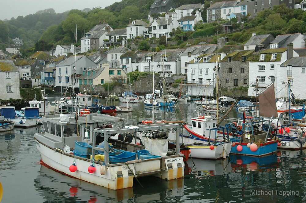 Polperro Harbour - UK by Michael Tapping
