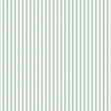 Mattress Ticking Narrow Striped Pattern in Moss Green and White by podartist