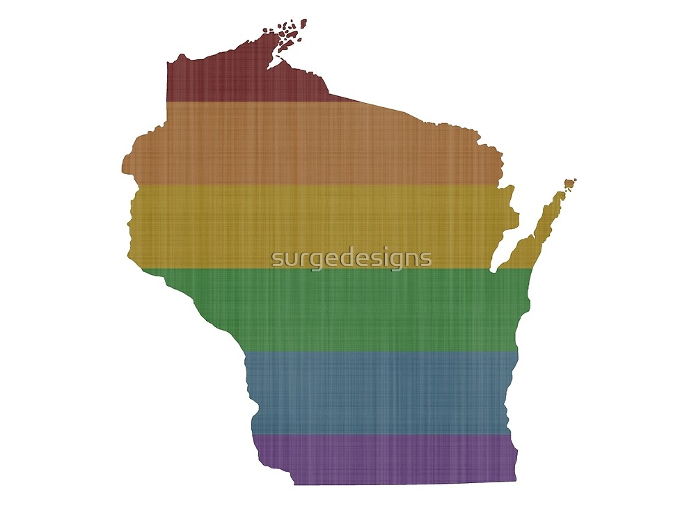 Wisconsin Rainbow Gay Pride by surgedesigns