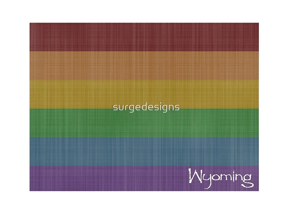 Wyoming Rainbow Gay Pride by surgedesigns