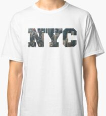 NYC New York City Letter Lanscape Classic T-Shirt
