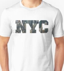 NYC New York City Letter Lanscape T-Shirt