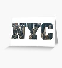 NYC New York City Letter Lanscape Greeting Card