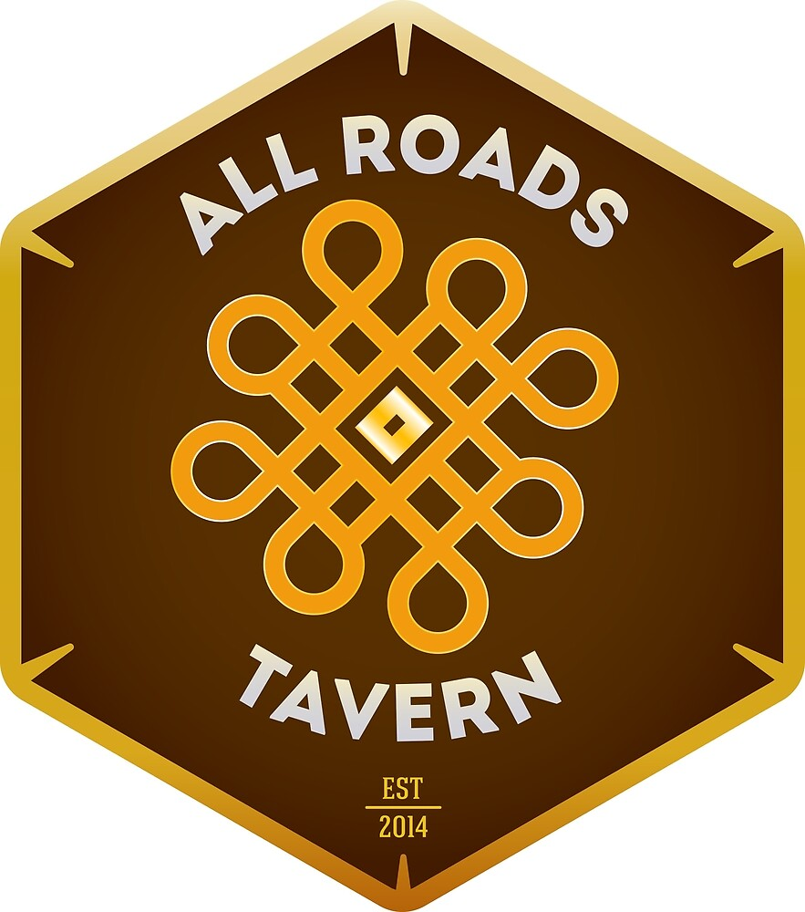 """All Roads Tavern """"Dice Sign"""" Full Color Logo by lithmage"""