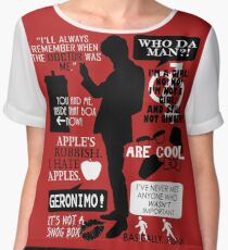 Doctor Who - 11th Doctor Quotes Chiffon Top