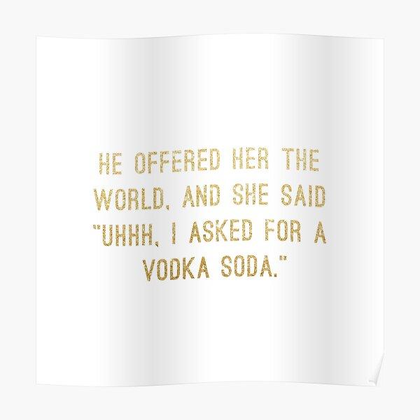 Vodka Soda Poster