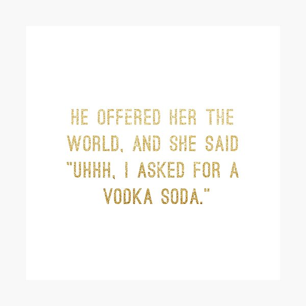Vodka Soda Photographic Print
