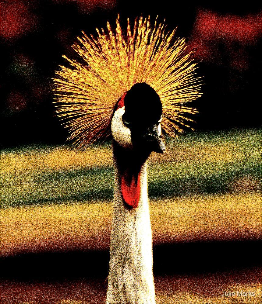 Crested Crane by Julie Marks