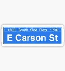 East Carson Street Sticker