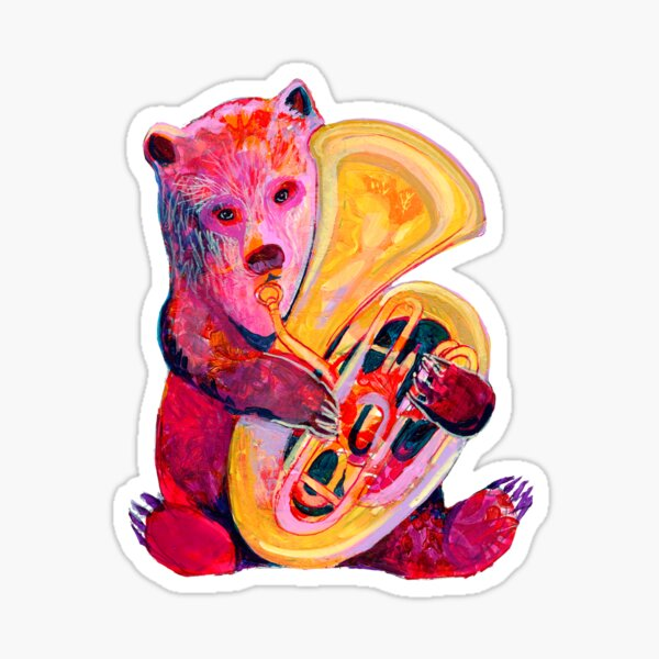 Tuba Bear Sticker