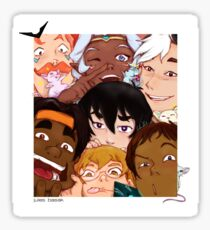 Voltron Family - Funny faces Sticker