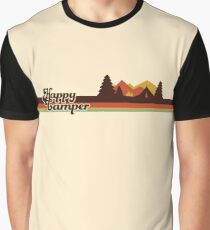 Happy Camper (Retro, 70s, Camping) Graphic T-Shirt