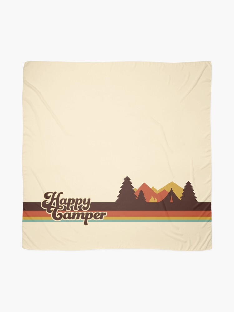 Vista alternativa de Pañuelo Happy Camper (Retro, 70s, Camping)