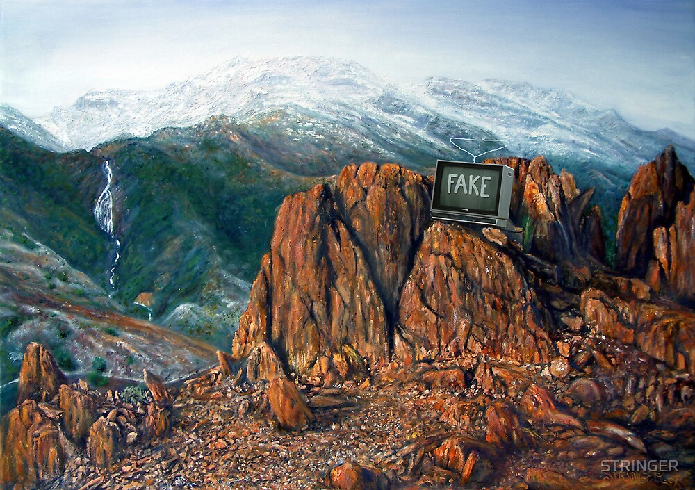 """THE TASMANIAN PICTURESQUE RENAISSANCE"": Painting of an oxymoron. by STRINGER"