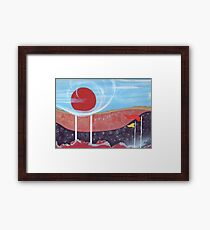 A Storm Passes the Water Tower Framed Print