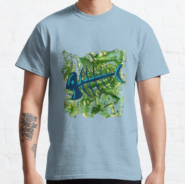 FISH SKELETON SWIRLING SEAS Classic T-Shirt