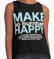 """Make Happy"" Contrast Tank"