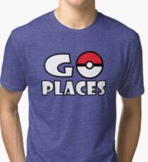 Go Places - Pokemon Go Tri-blend T-Shirt