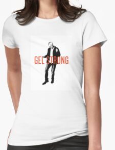 Gel Strong - Black Womens Fitted T-Shirt
