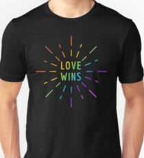 LOVE WINS GAY PRIDE  T-Shirt