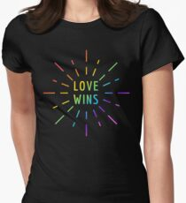 LOVE WINS GAY PRIDE  Womens Fitted T-Shirt