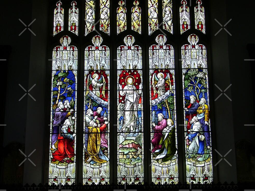 Stained Glass, Hawkshead Church by Tom Gomez