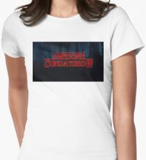 Our Logo Stranger Things Style Women's Fitted T-Shirt