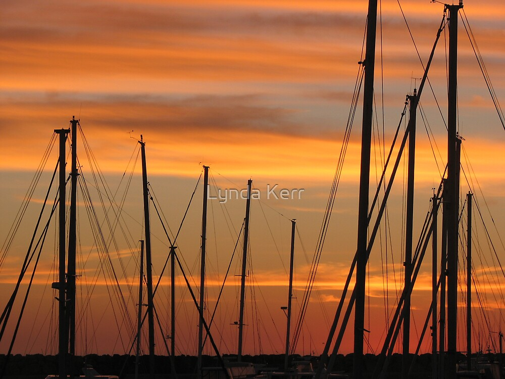 Marina Masts by Lynda Kerr